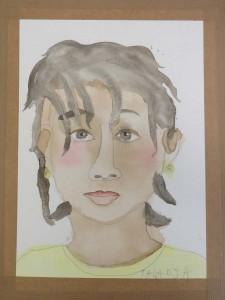 Dessin au crayon et à l'aquarelle