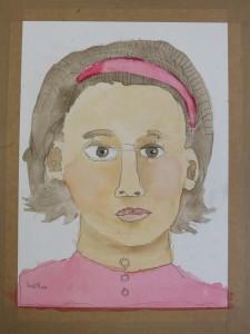Enfant qui a dessiné son à l'hôpital