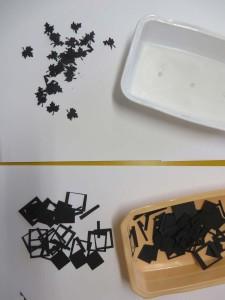 Feuilles et carrés