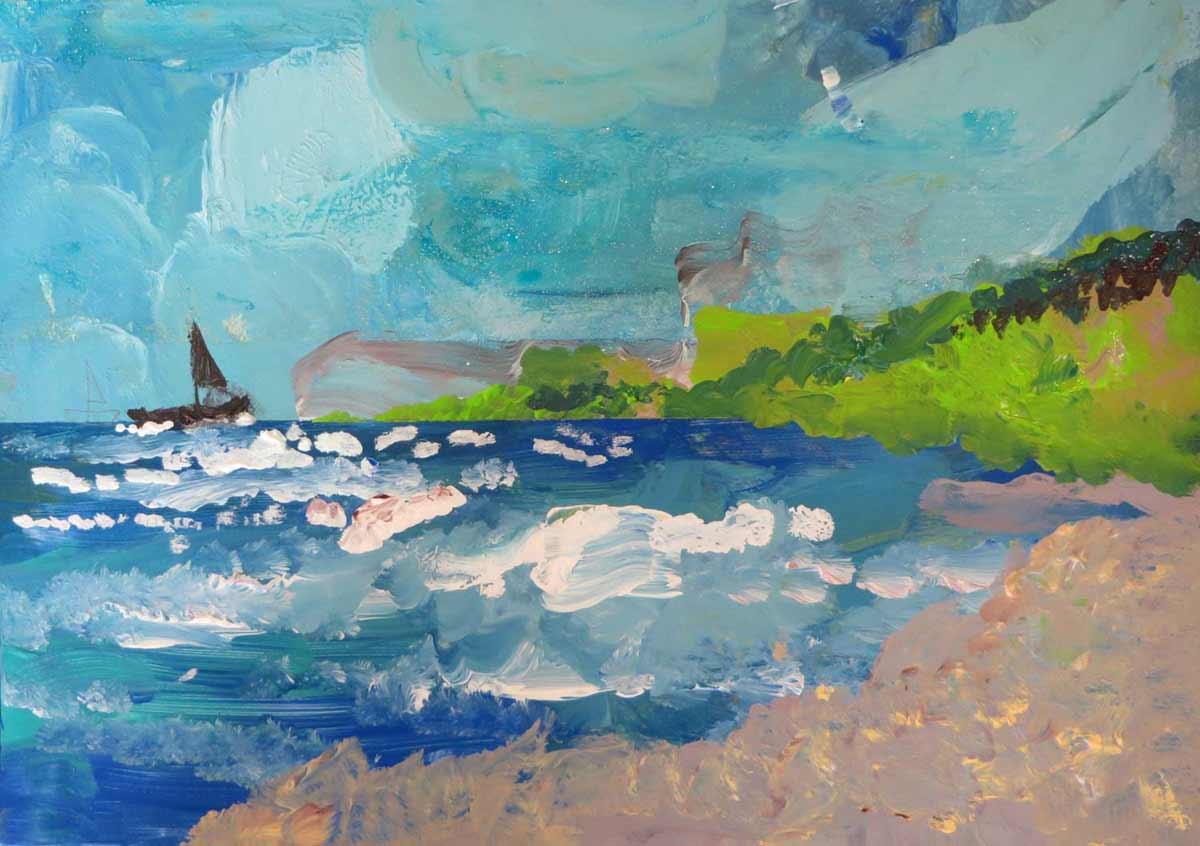 Peindre des paysages avec de la peinture acrylique - Peindre sur peinture acrylique ...