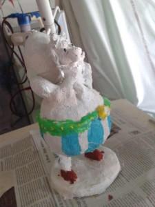 Figurine d'Obélix en plâtre