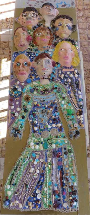 Bas-relif inspiré des tableaux de Klimt