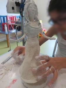 Atelier de sculpture à l'hôpital