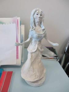 Petite statue en plâtre