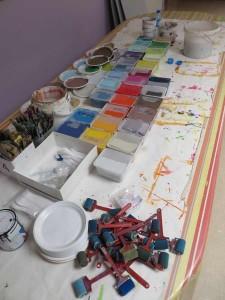Le matériel pour peindre