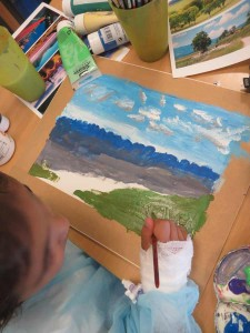 Peindre avec de la peinture acrylique