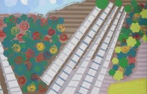 Jardins multicolores et serres