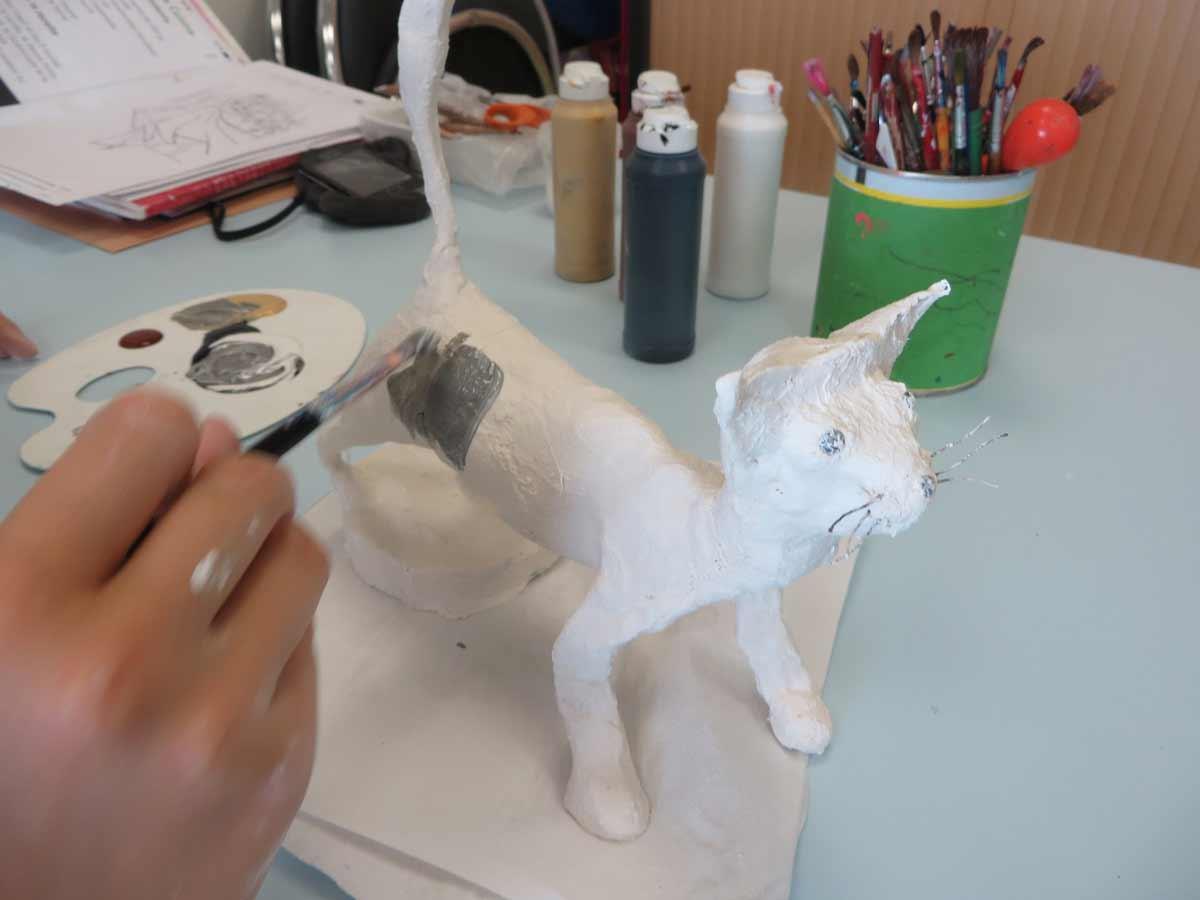 sculpter avec des bandes plâtrées - atelier d'art plastique - page 10