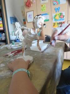 Peinture de la figurine
