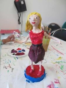 Figurine peinte
