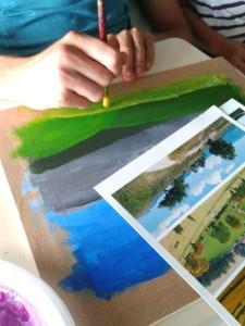 Peindre la végétation