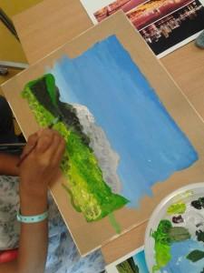 Atelier peinture avec les enfants