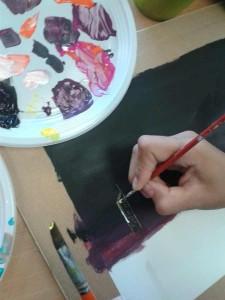 Détails réalisés à la peinture