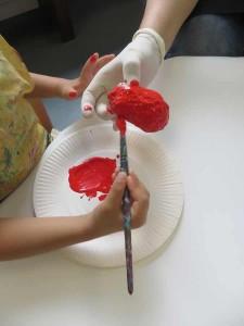 Peindre une fraise