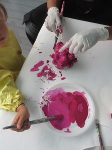 Peindre des framboises