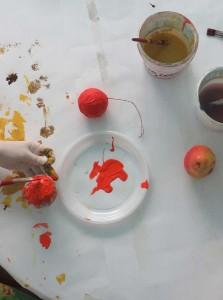 Peindre des oranges
