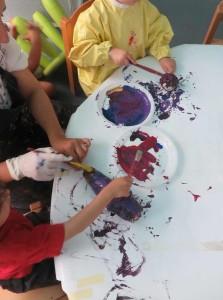 Peindre une aubergine