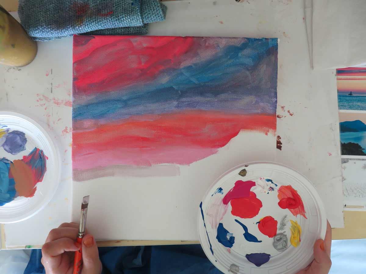 Peindre Un Coucher De Soleil Artiste Plasticienne Intervenant En