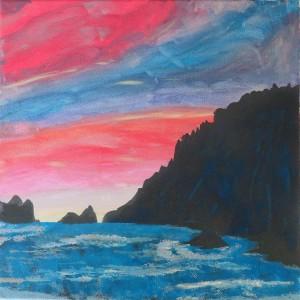 Peinture de coucher de soleil