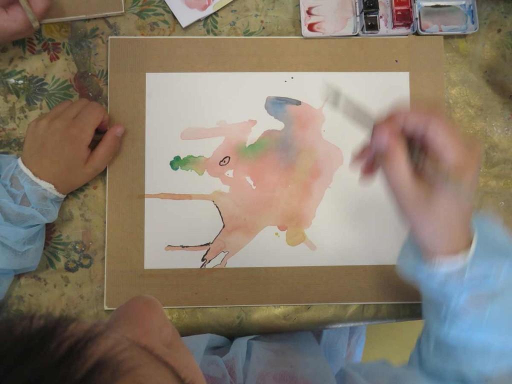 Inventer à partir de la tache d'aquarelle