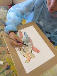 Atelier de dessin avec les enfants hospitalisés