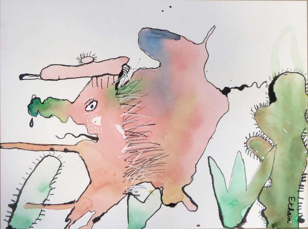 Le monstre aux cactus imaginé par Ethan