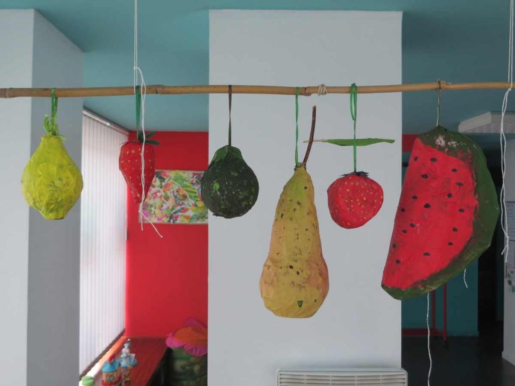 Citron, fraise, cougette, poire et pastèque