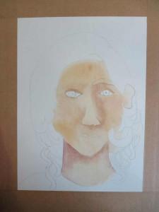 Peindre le visage à l'aquarelle