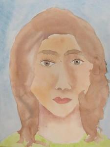 Portrait à la peinture aquarelle