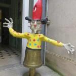 Clown en papier mâché