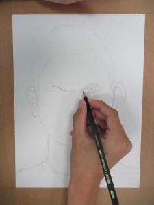 Dessin au crayon à papier.
