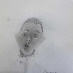 portrait d'enfant dessiné par lui-même