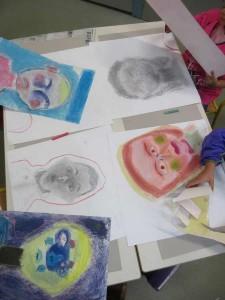 Portraits aux couleurs froides