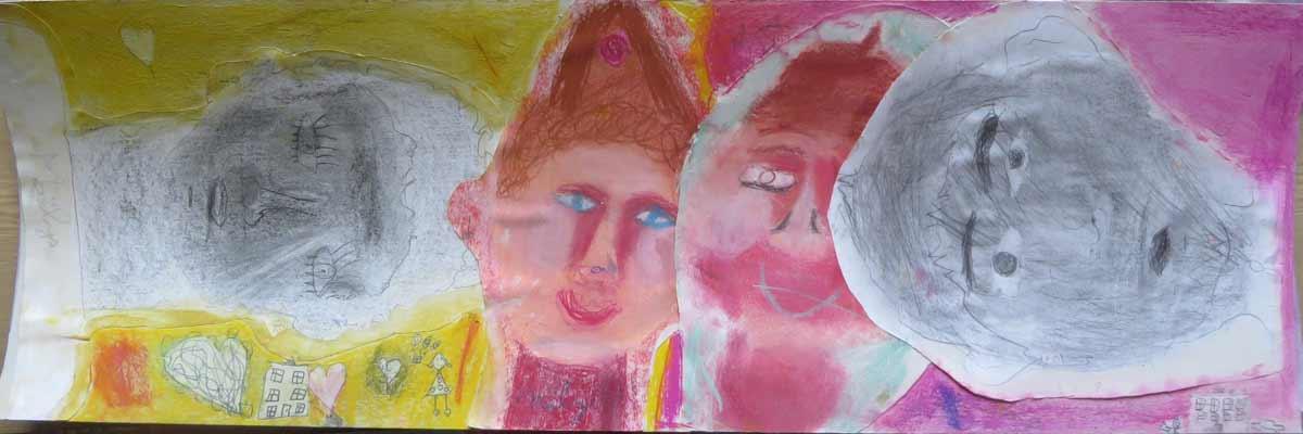Portrait aux yeux bleus