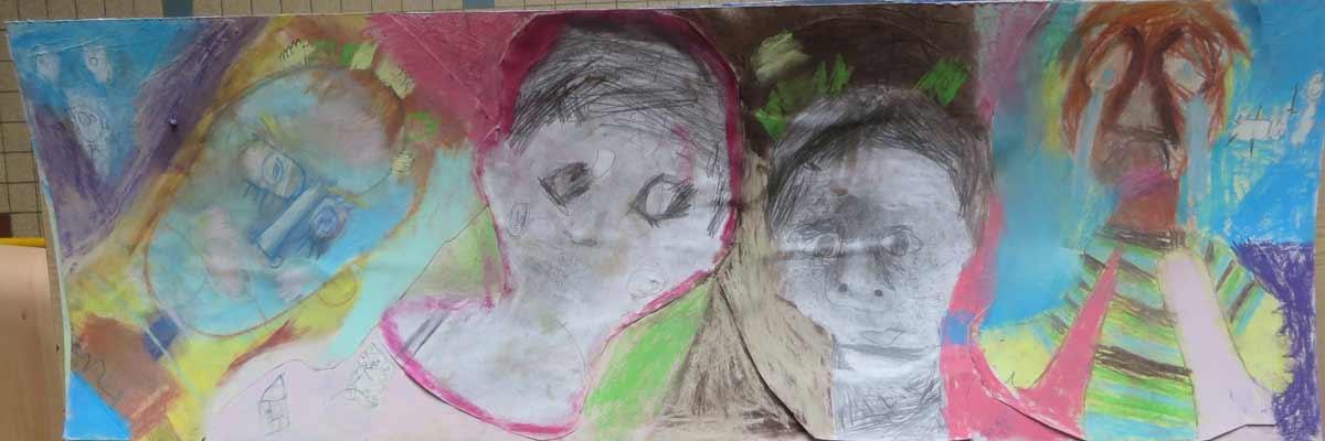 Portraits au pastel