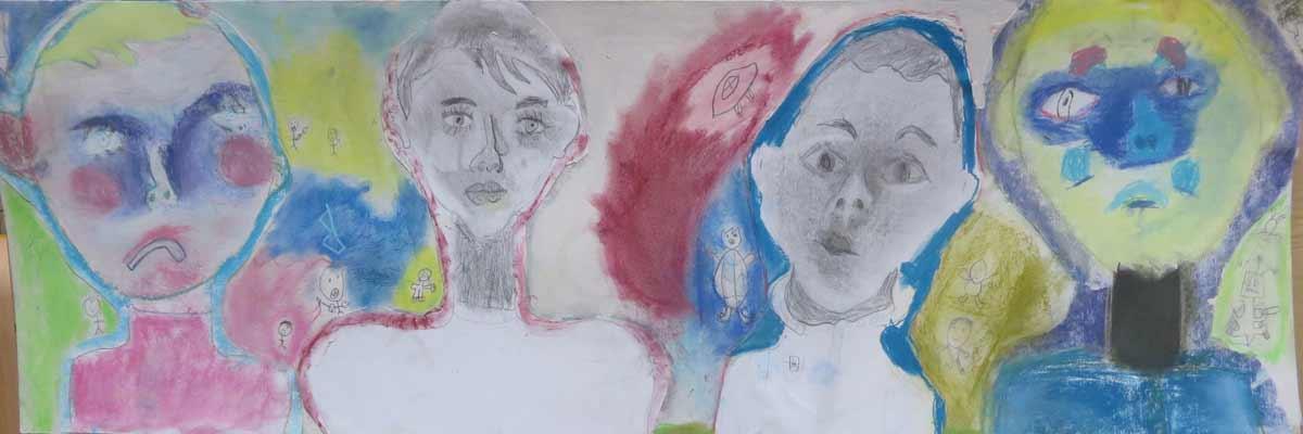 Portraits au pastel et au crayon