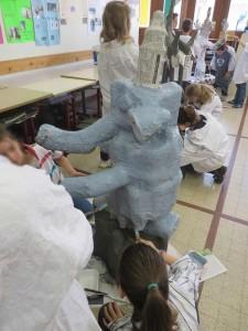Mise en couleur de l'éléphant
