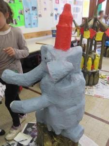 Elephant réalisé par les enfants