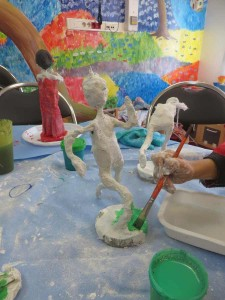 Peinture des modelages