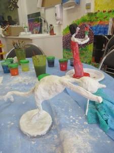 Atelier modelage avec les enfants
