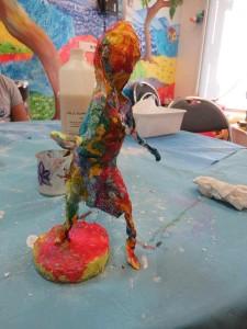 Figurine peinte à l'encre