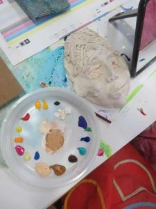 Palette de couleurs pour peindre les portraits