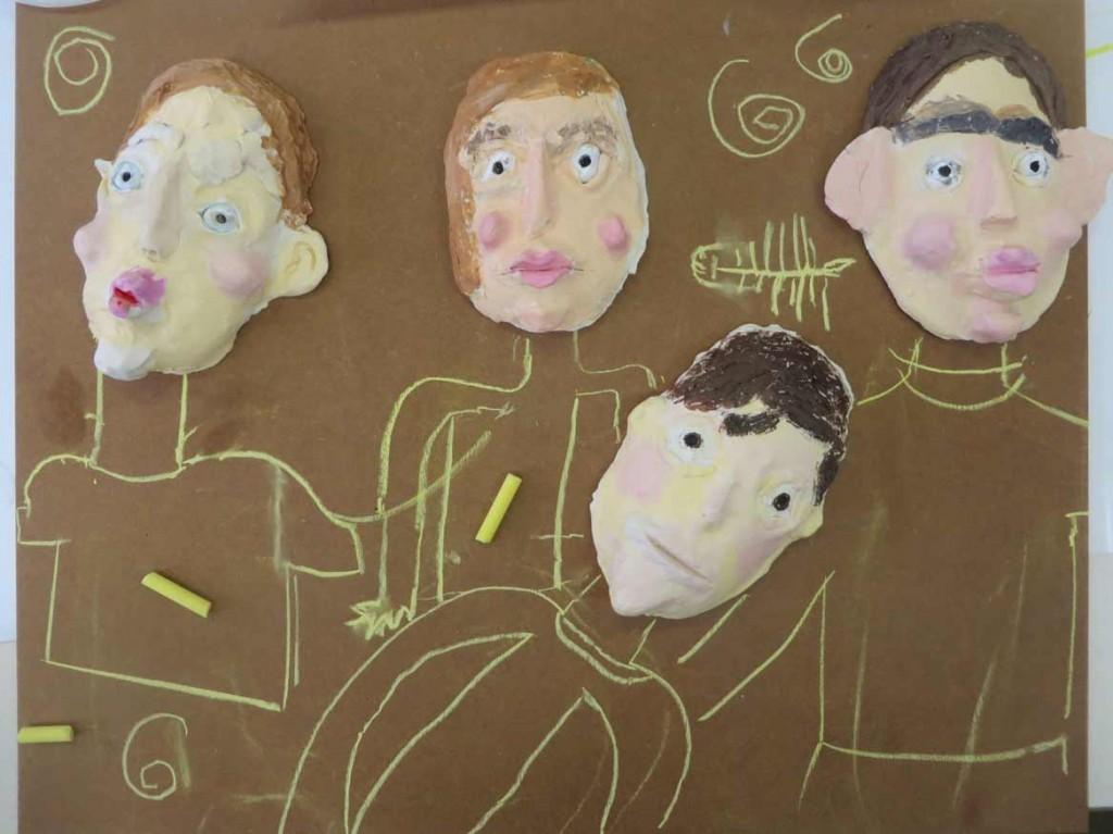 Le corps de personnages est dessiné