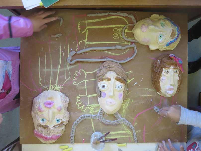 Tableau réalisé par les enfants de CE1