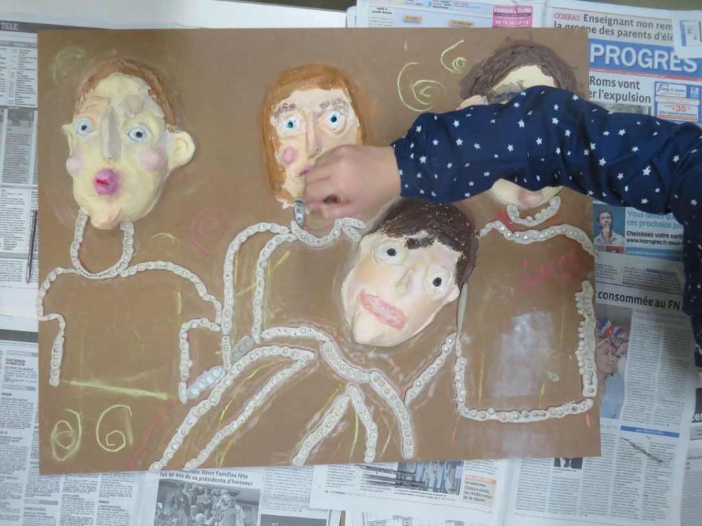 Travail réalisé par les enfants