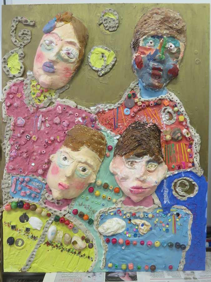 Tableau collectif réalisé par les enfants