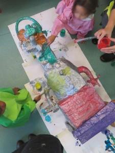 Peinture à la maternelle