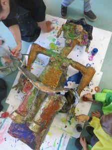 Projet sculpture à la maternelle