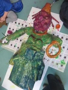 Sculpture réalisée par les enfants de maternelle
