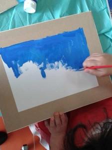Peindre le ciel bleu